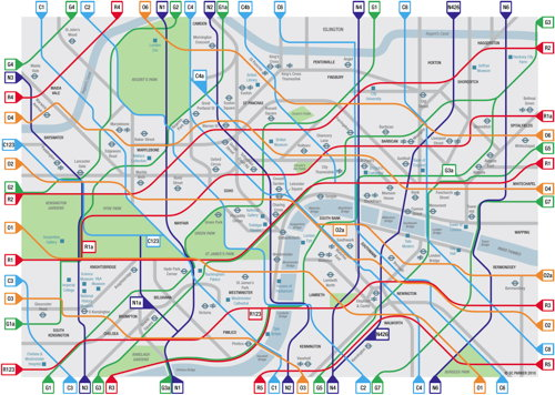 London Cycle Map (inner London)