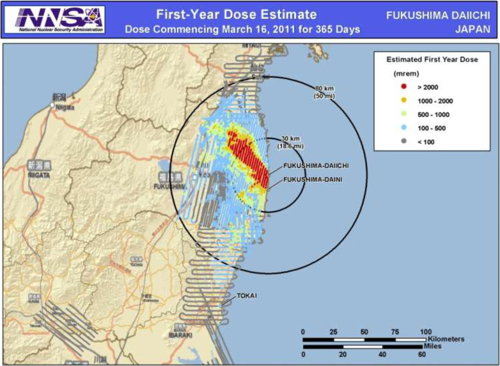 First-Year Dose Estimate, Fukushima Daichi, Japan (NNSA)