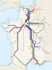 Cameron Booth: French high-speed rail map (thumbnail)