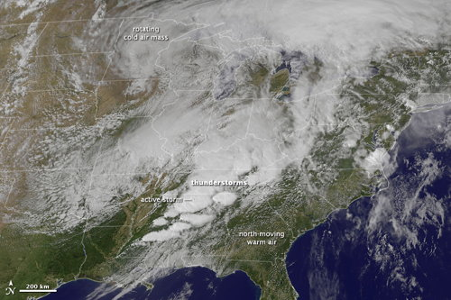 Earth Observatory: Severe Tornado Outbreak in the Southern United States