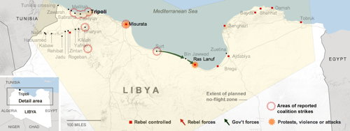New York Times Libya map (screenshot)